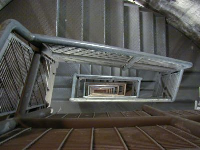The steel staircase