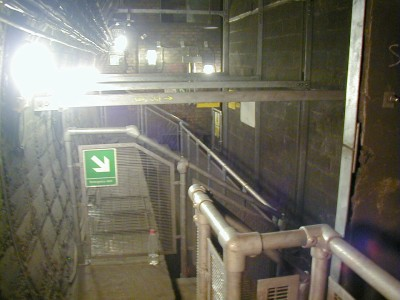 The south bound platform area