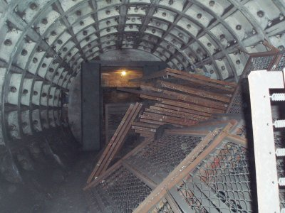 Cross-passageway with some removed bunks