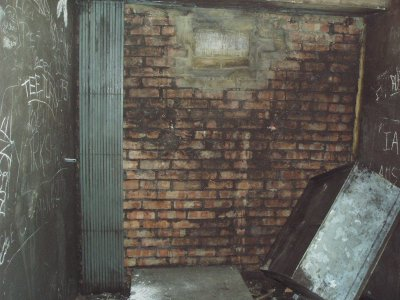 Bricked off access to tube station