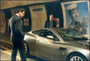 Bond inspects the car