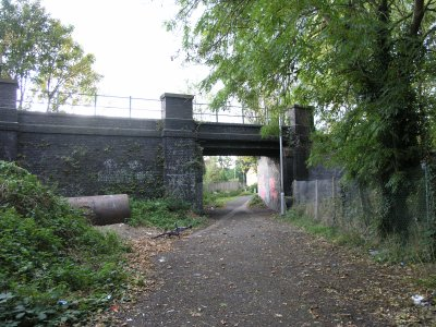 Bridge over the footpath
