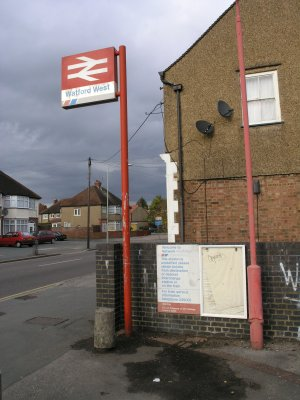 Watford West Station signs