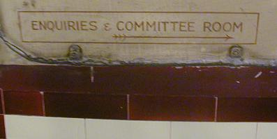 Enquiries & Committee Room sign