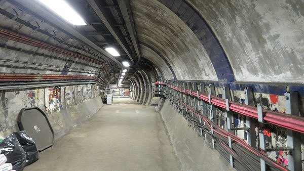 The north interchange tunnel leading to the lift concourse