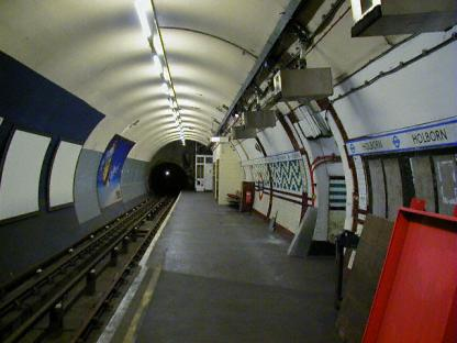 Holborn Platform 5, south towards Aldwych