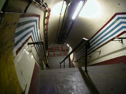 Holborn, down the stairs
