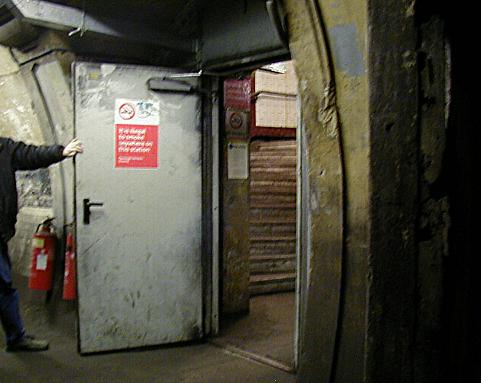 Original lift shaft, converted to spiral staircase