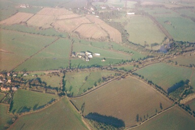 Aerial view of Verney Junction