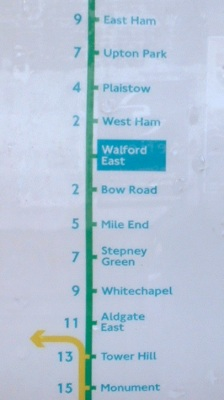 Walford East Station Map