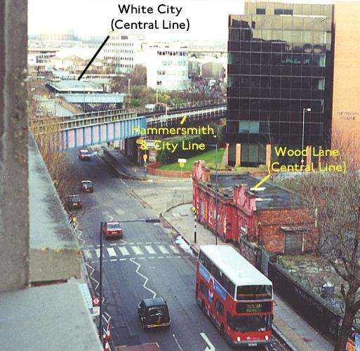 Location of station compared to White City station